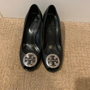 Tory Burch Shoes Heels black leather
